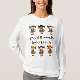 誇りを持ったなブラウニーの軍隊のリーダーのブラウニーの列 Tシャツ