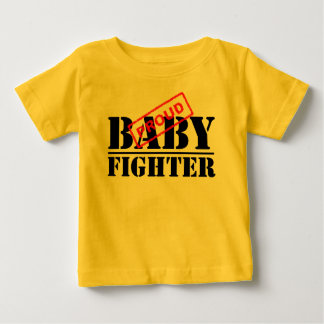 誇りを持ったなベビーの戦闘機の乳児のTシャツ ベビーTシャツ