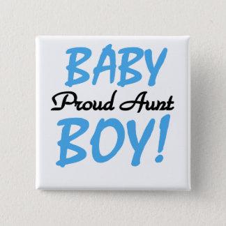 誇りを持ったな叔母さん男の赤ちゃんのTシャツおよびギフト 5.1CM 正方形バッジ