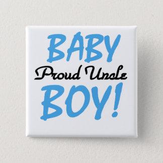 誇りを持ったな叔父さん男の赤ちゃんのTシャツおよびギフト 5.1CM 正方形バッジ