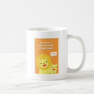 誇りを持ったな家族への小さいライオンの新しい付加そう コーヒーマグカップ