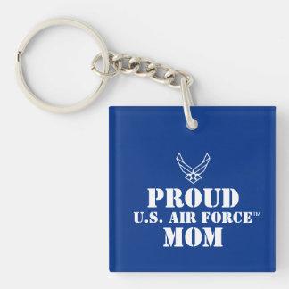 誇りを持ったな家族-青のロゴ及び星 キーホルダー