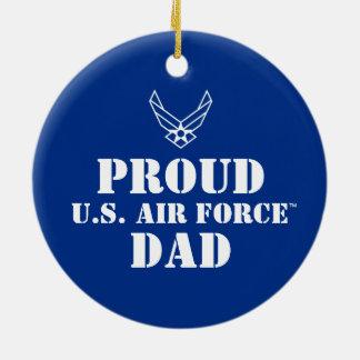 誇りを持ったな家族-青のロゴ及び星 セラミックオーナメント