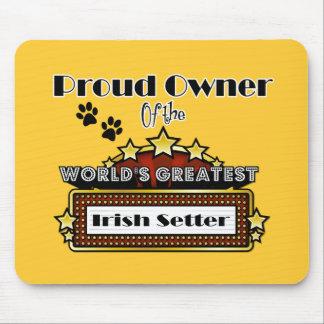 誇りを持ったな所有者の世界ですばらしいアイリッシュセッター マウスパッド