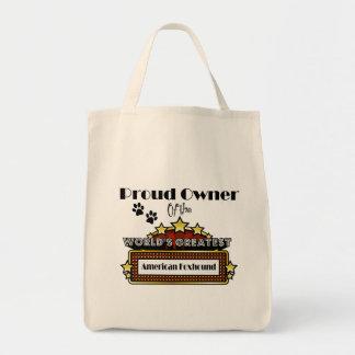 誇りを持ったな所有者の世界で最も素晴らしいアメリカFoxhound トートバッグ