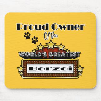 誇りを持ったな所有者の世界で最も素晴らしいボルゾイ マウスパッド