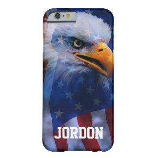 誇りを持ったな白頭鷲および米国旗 BARELY THERE iPhone 6 ケース