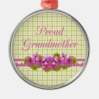 誇りを持ったな祖母の記念品 メタルオーナメント