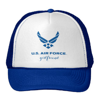 誇りを持ったな米国の空軍ガールフレンドのトラック運転手の帽子 メッシュキャップ