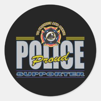 誇りを持ったな警察サポータ ラウンドシール