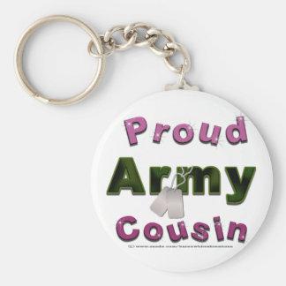 誇りを持ったな軍隊のいとこのピンクKeychain キーホルダー
