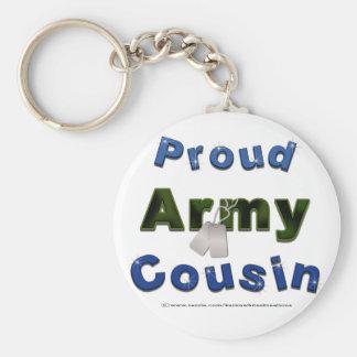誇りを持ったな軍隊のいとこの青Keychain キーホルダー