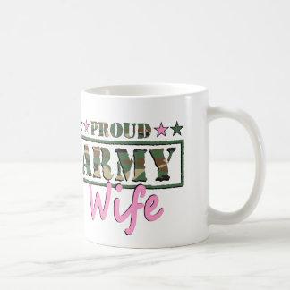 誇りを持ったな軍隊の妻のマグ コーヒーマグカップ