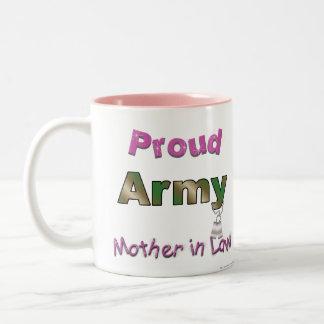 誇りを持ったな軍隊の義母のマグ ツートーンマグカップ