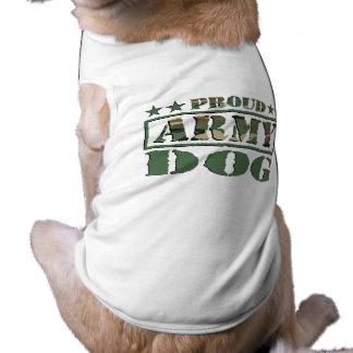 誇りを持ったな軍隊犬のTシャツ ペット服