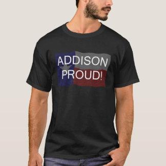 誇りを持ったなAddison -暗い背景 Tシャツ
