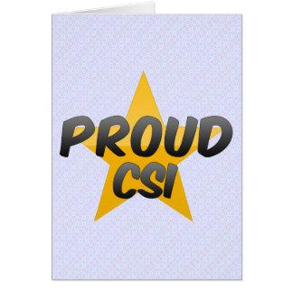 誇りを持ったなCsi カード