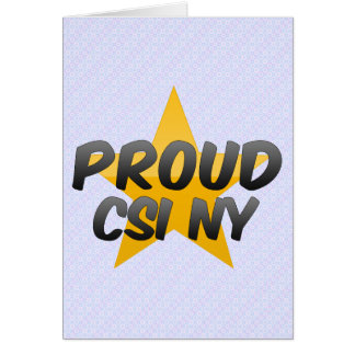 誇りを持ったなCsi Ny カード
