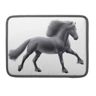 誇りを持ったなFriesianの馬の人力車の折り返しの袖 MacBook Proスリーブ