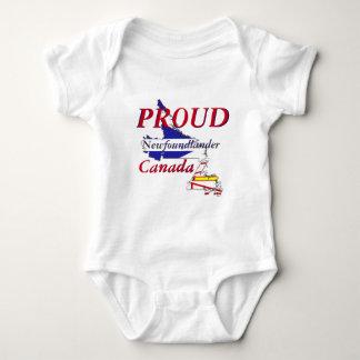 誇りを持ったなNewfoundlanderニューファウンドランドカナダ ベビーボディスーツ