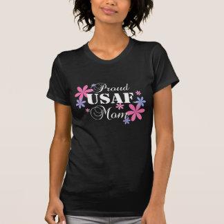 誇りを持ったなUSAFのお母さんの花柄 Tシャツ