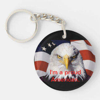 誇りを持った、独立記念日アメリカ、キーホルダー、米国 キーホルダー