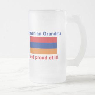 誇り高いアルメニアの祖母 フロストグラスビールジョッキ