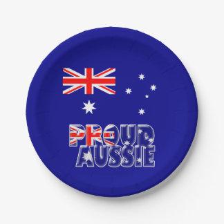 誇り高いオーストラリア人 ペーパープレート