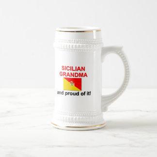 誇り高いシシリアの祖母 ビールジョッキ