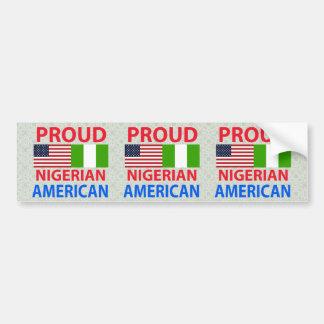 誇り高いナイジェリアのアメリカ人 バンパーステッカー