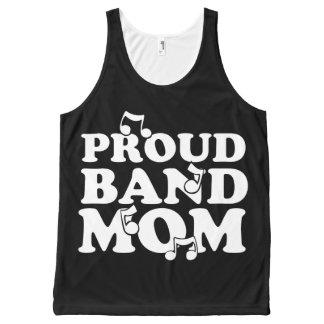 誇り高いバンドお母さん オールオーバープリントタンクトップ