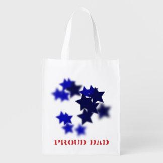 誇り高いパパの再使用可能な買い物袋 エコバッグ