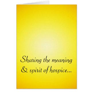 誇り高いホスピスのボランティア カード