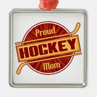 誇り高いホッケーのお母さん メタルオーナメント