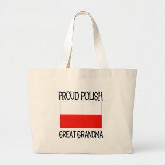誇り高いポーランドの曾祖母 ラージトートバッグ