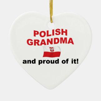誇り高いポーランドの祖母 セラミックオーナメント