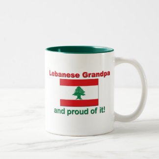 誇り高いレバノンの祖父 ツートーンマグカップ