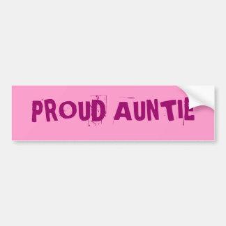 誇り高い伯母さん バンパーステッカー