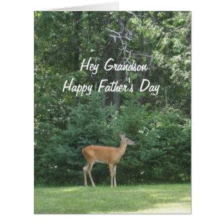 誇り高い孫の   幸せな父の日のシカ カード