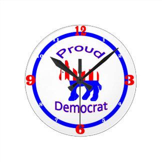 誇り高い民主党員 ラウンド壁時計