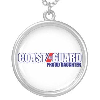 誇り高い沿岸警備隊の娘 シルバープレートネックレス