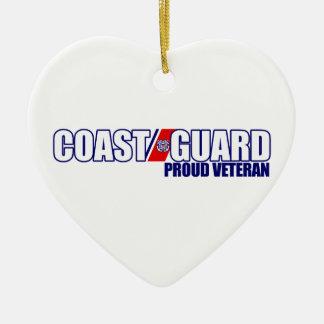誇り高い沿岸警備隊の退役軍人 セラミックオーナメント
