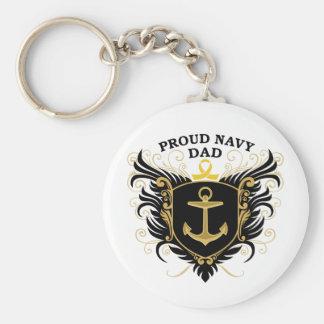 誇り高い海軍パパ キーホルダー