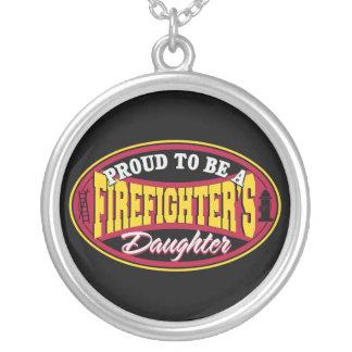 誇り高い消防士の娘 シルバープレートネックレス