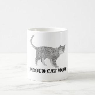 誇り高い猫のお母さん コーヒーマグカップ
