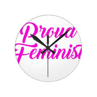 誇り高い男女同権主義者 ラウンド壁時計
