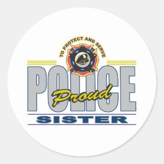 誇り高い警察の姉妹 ラウンドシール