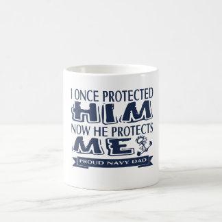 誇り高い軍親海軍パパ コーヒーマグカップ