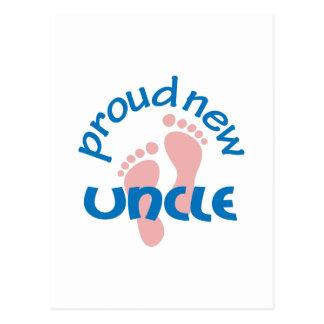 誇り高く新しい叔父さん ポストカード