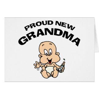 誇り高く新しい祖母 カード